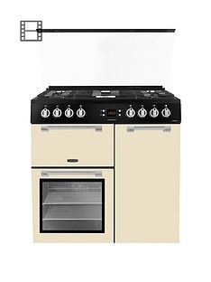 Leisure CC90F531C 90cm Chefmaster Dual Fuel Range Cooker with Optional Connection - Cream Best Price, Cheapest Prices