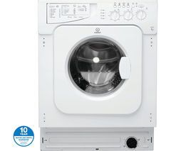 INDESIT Ecotime IWME127 Integrated Washing Machine - White Best Price, Cheapest Prices