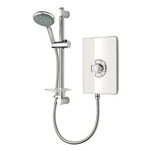 Triton Electric Shower - White Gloss 8.5kW Best Price, Cheapest Prices