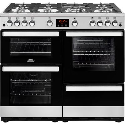 Belling Cookcentre100G 100cm Gas Range Cooker - Stainless Steel - A/A Rated Best Price, Cheapest Prices