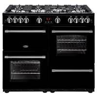 Belling Farmhouse 100G 100cm Gas Range Cooker in Black 444444139 Best Price, Cheapest Prices