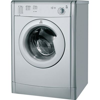 Indesit Eco Time IDV75S 7Kg Vented Tumble Dryer - Silver - B Rated Best Price, Cheapest Prices