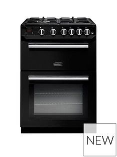 Rangemaster  PROP60NGFBL Professional 60cm Wide Gas Cooker - Black Best Price, Cheapest Prices