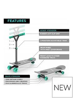 Morfboard Morf Board Skate N Scoot Combo - Mint Best Price, Cheapest Prices