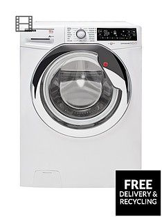 Hoover DXP412AIW3 Dynamic Next Premium 12kg Load, 1400 Spin Washing Machine - White/Chrome Best Price, Cheapest Prices