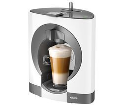 KRUPS Dolce Gusto Oblo KP110140 Hot Drinks Machine - White Best Price, Cheapest Prices