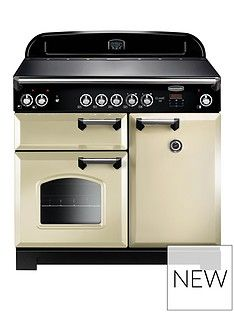 Rangemaster  CLA100ECCR Classic 100cm Electric Range Cooker - Cream Best Price, Cheapest Prices