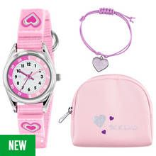 Tikkers Pink Heart Time Teacher Watch Set Best Price, Cheapest Prices