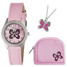 Tikkers Girls' Pink Butterfly Watch Set Best Price, Cheapest Prices