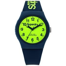 Superdry Men's Navy Silicone Strap Watch Best Price, Cheapest Prices