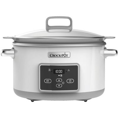 Crockpot CSC026 5 Litre Slow Cooker - White / Grey Best Price, Cheapest Prices