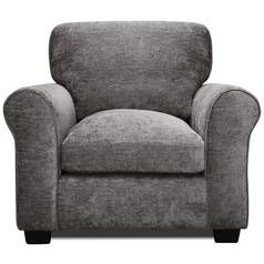 Argos Home Tammy Fabric Armchair - Charcoal Best Price, Cheapest Prices