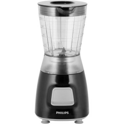 Philips Daily Collection HR2052/91 1.25 Litre Blender with 2 Accessories - Black Best Price, Cheapest Prices