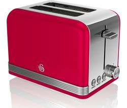 SWAN ST19010RN 2-Slice Toaster - Red Best Price, Cheapest Prices
