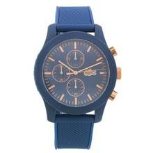 Lacoste 12.12 Men's Blue Silicone Strap Chronograph Watch Best Price, Cheapest Prices