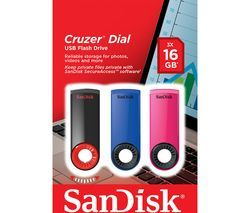 SANDISK Cruzer Dial USB 2.0 Memory Stick - 16 GB, Pack of 3 Best Price, Cheapest Prices