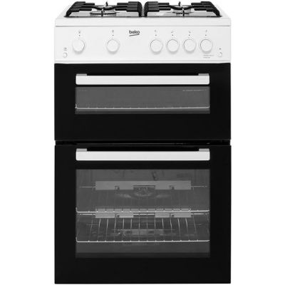 Beko KTG611W Gas Cooker with Full Width Gas Grill - White - A+ Rated Best Price, Cheapest Prices