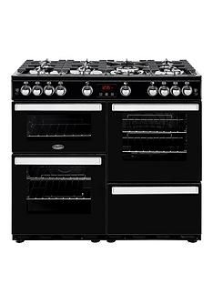 Belling 100G Cookcentre 100Cm Gas Range Cooker - Rangecooker With Connection Best Price, Cheapest Prices