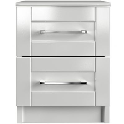 One-Call Colby Gloss 2 Drawer Bedside Chest