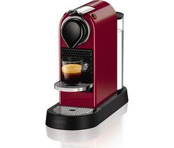 NESPRESSO by Krups CitiZ Coffee Machine - Red Best Price, Cheapest Prices