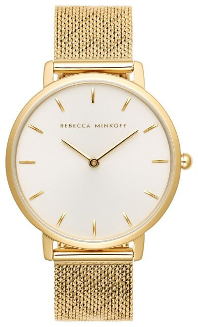 Rebecca Minkoff Ladies Gold Plated Bracelet Watch Best Price, Cheapest Prices