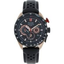 Pulsar WRC Men's Black Leather Strap Chronograph Watch Best Price, Cheapest Prices