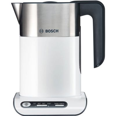 Bosch Styline TWK8631GB Kettle with Temperature Selector - White / Stainless Steel Best Price, Cheapest Prices
