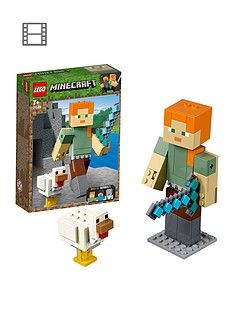 LEGO Minecraft 21149 Alex BigFig with Chicken Best Price, Cheapest Prices