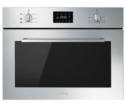 SMEG Cucina SF4400MCX Built-in Compact Combination Microwave - Stainless Steel Best Price, Cheapest Prices