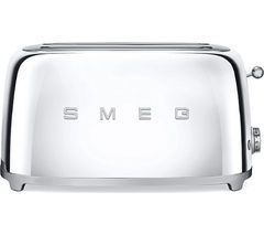 SMEG TSF02SSUK 4-Slice Toaster - Chrome Best Price, Cheapest Prices