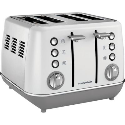 Morphy Richards Evoke 240109 4 Slice Toaster - White Best Price, Cheapest Prices