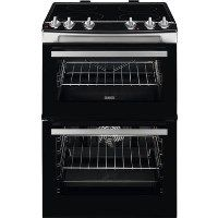 Zanussi ZCI66050XA 60cm Double Oven Electric Cooker With Induction Hob - Stainless Steel Best Price, Cheapest Prices