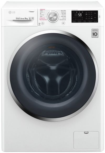 LG F4J6VY2W 9KG 1400 Spin Washing Machine - White Best Price, Cheapest Prices