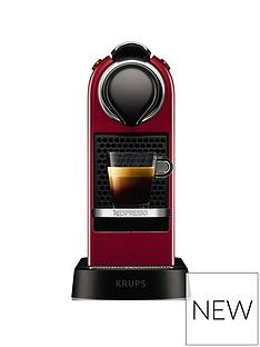 Nespresso Nespresso By Krups Citiz Xn741540 Pod Coffee Machine - Cherry Red Best Price, Cheapest Prices