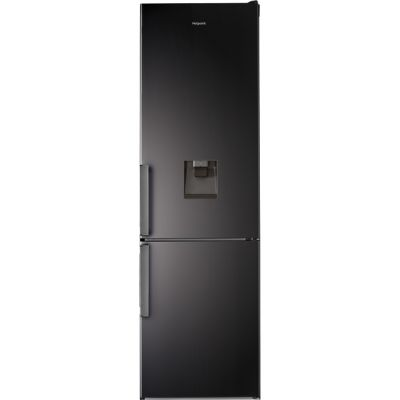 Hotpoint H7T911AKSHAQUA 70/30 Frost Free Fridge Freezer - Black / Stainless Steel - A+ Rated Best Price, Cheapest Prices