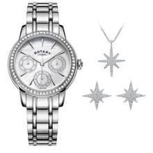 Rotary Ladies' Multi Dial Watch and Jewellery Set Best Price, Cheapest Prices