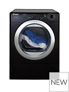 Candy Grand'O Vita Gvs C9Dcgb 9Kg Load Condenser Sensor Tumble Dryer With Smart Touch - Black/Chrome Best Price, Cheapest Prices