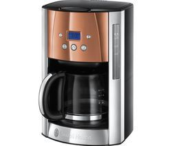 RUSSELL HOBBS Luna 24320 Filter Coffee Machine - Copper Best Price, Cheapest Prices