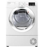 Hoover HLC9DCE Link 9kg Freestanding Condenser Sensor Tumble Dryer With One Touch - White With Chrom Best Price, Cheapest Prices