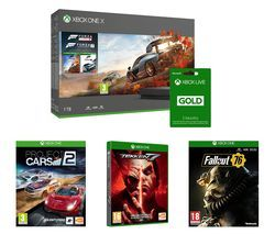 MICROSOFT Xbox One X with Forza Horizon 4, Forza Motorsport 7, Fallout 76, Tekken 7 & Project Cars 2 Bundle Best Price, Cheapest Prices