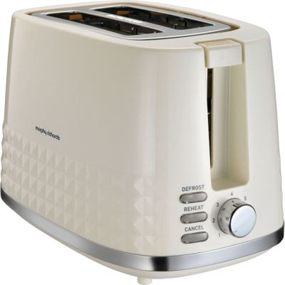 Morphy Richards Dimensions 220022 2 Slice Toaster - Cream Best Price, Cheapest Prices