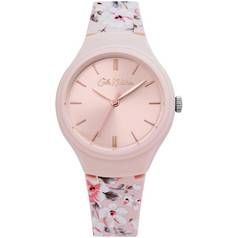 Cath Kidston Light Pink Floral Silicone Strap Watch Best Price, Cheapest Prices