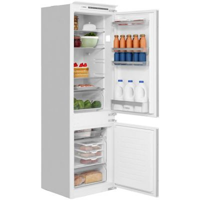 Bosch Serie 4 KIV86VS30G Integrated 60/40 Fridge Freezer with Sliding Door Fixing Kit - White - A++ Rated Best Price, Cheapest Prices