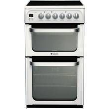 Hotpoint HUE53P 50cm Double Oven Electric Cooker - White