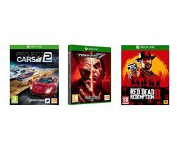 XBOX ONE Red Dead Redemption 2, Tekken 7 & Project Cars 2 Bundle Best Price, Cheapest Prices