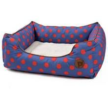 Petface Blue Spots Square Bed - Large Best Price, Cheapest Prices