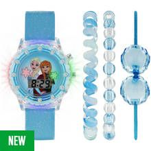 Disney Frozen Stone Set Light Up Watch and Jewellery Set Best Price, Cheapest Prices