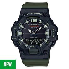 Casio Men's Count Up Bezel Green Resin Strap Watch Best Price, Cheapest Prices