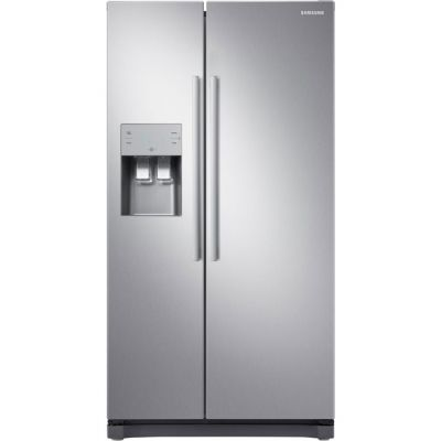 Samsung RS3000 RS50N3513SL American Fridge Freezer - Clean Steel - A+ Rated Best Price, Cheapest Prices
