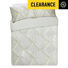 Heart of House Hadley Cream Pintuck Bedding Set - Kingsize Best Price, Cheapest Prices